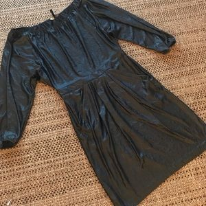 Bcbg shiny black dress comfortable sexy work!!!!